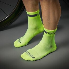 GripGrab Hi-Vis Regular Cut Cycling Socks Fluo Yellow